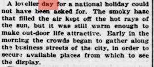 Labor Day Parade - Sept. 3, 1894